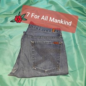 7 For All Mankind Austyn Distressed Straight Jeans